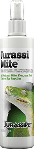 JurassiMite utilizes an all natural non-toxic formula that safely and effectively eradicates common reptile parasites such as mites fleas and ticks. Mite infestations are notoriously difficult to g...