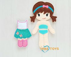 The best gift for a girl is a dress-up doll with clothing. This Boy and Girl Felt Doll Play Set is unique and made by hands with great love in my home studio. This Felt Doll Clothing set includes BOY DOLL with clothing and GIRL DOLL with clothing. * You can change skin or hair color by order
