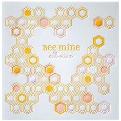 """Bee"" Mine. Freaking adorable."