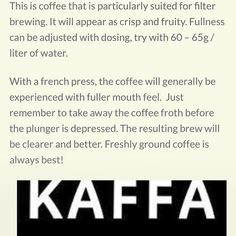 @kaffa_oslo Yirgacheffe is No. 8.  This is what I would call a classic toned Yirgacheffe.  Juicy sweetness and body and strong black tea note.  Lemon and a little bit of florals round it out.  Nice when @xmelissalauren Brewed it in @the_chemex but I think my grind was a little too fine for my @aerobieaeropress.  I forgot to take a picture for this coffee so here's a screenshot from the @kaffebox page. #coffee #ethiopia #yirgacheffe #chemex #aeropress #sharingiscaring #kaffeboxjul by…