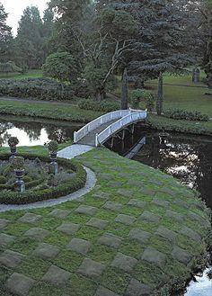 Garden design - we love the bridge