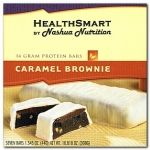 The HealthSmart Caramel Brownie protein bar is a yummy brownie treat with a layer of caramel for an added bonus. http://www.nashuanutrition.com/store/protein-bars/healthsmart-protein-bar-caramel-brownie-7-box.html