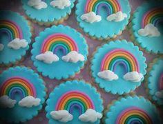 Rainbow Cookies. Sweet, Colourfull & Beautiful. ❤