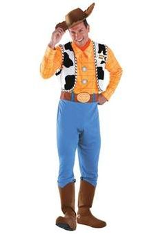 Toy Story is everyone's favourite toy movie. Find the best Halloween costumes to dress up like any character in Toy Story 4 including Woody, Buzz Lightyear Mens Woody Costume, Woody Toy Story Costume, Toy Story Halloween Costume, Toy Story Costumes, Disney Halloween Costumes, Cool Costumes, Adult Costumes, Costume Ideas, Adult Halloween