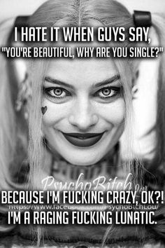 - joker and harley quinn - Motorrad Bitch Quotes, Joker Quotes, Sassy Quotes, Badass Quotes, Sarcastic Quotes, Mood Quotes, Girl Quotes, Funny Quotes, Spirit Quotes