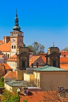 Picture of Mikulov (Nikolsburg) castle and town in South Moravia, Czech Republic stock photo, images and stock photography. Famous Saints, Famous Castles, Austro Hungarian, Beautiful Forest, Palaces, Czech Republic, Old Town, Europe, Vacation