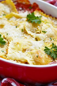 Easy Baked Ravioli with Meat Sauce Recipe