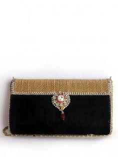 Buy Online Elegant Black Falah Clutch - 2014