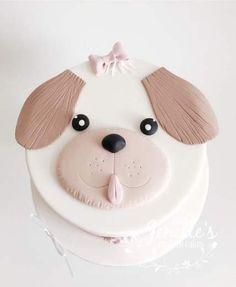 Dog face birthday cake by Jenelle's Custom Cakes! Puppy Birthday Cakes, Themed Birthday Cakes, Birthday Cake Girls, Dog Birthday, Themed Cakes, Birthday Ideas, Pumpkin Dog Treats, Homemade Dog Treats, Animal Cakes For Kids