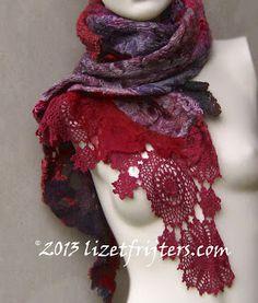 Lizet Frijters: More nuno felted scarves