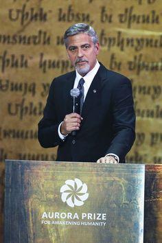 George Clooney Photos - 100 Lives in Armenia - April 24 Prize Ceremony - Zimbio