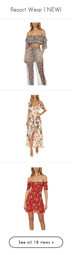 """""""Resort Wear   NEW!"""" by blueandcream ❤ liked on Polyvore featuring tops, blouses, designers, home, women's, zimmermann, brown silk blouse, off-shoulder blouses, floral silk blouse and floral off the shoulder top"""
