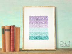 It's the little things, like this cute gradient poster, that will liven up any room.