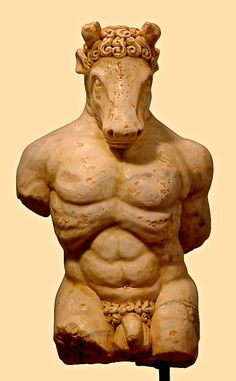 Minotaur, marble sculpture, Greco-Roman