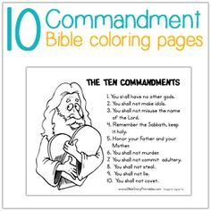 Ten Commandment Coloring Pages
