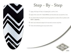 Step-by-step nail art by Bio Sculpture Gel Bio Sculpture Gel Nails, Sculpting Gel, Nail Art Brushes, Nail Art Galleries, Nail Tutorials, White Nails, Creative Inspiration, Fun Nails, Monochrome