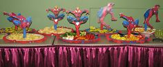 Spiderman Party Food Table Decor
