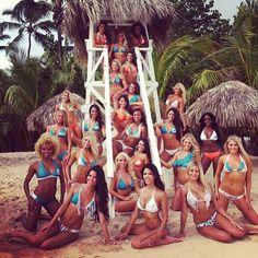 Sneak Peak At The 2013 Miami Dolphins Cheerleader Calendar Shoot in the Dominican Republic Miami Cheerleaders, Dolphins Cheerleaders, Miami Dolphins, Tampa Bay Buccaneers, Dominican Republic, Cheerleading, Calendar, Sports, Image