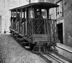 'Ascensor da Bica' funicular car at the top stop (in in Lisbon, Portugal Lisbon Apartment, Lisbon Hotel, Charming House, Cool Apartments, Beyond Beauty, Hotels Near, Street Photography, Film Photography, Portuguese
