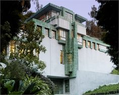 Ramon Novarro's House designed and built by Architect Frank Lloyd Wright in Los Angeles, California, Organic Architecture, Beautiful Architecture, Beautiful Buildings, Art And Architecture, Architecture Details, Bauhaus, Wisconsin, Frank Lloyd Wright Homes, Hollywood Homes