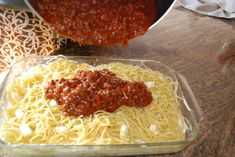 Million Dollar Spaghetti...pasta, sauce, cream cheese, sour cream, shredded cheese... Bake 30 minutes, and your family will think you slaved all day preparing this amazing meal!