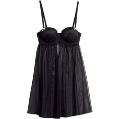 H&M Mesh negligée (31 BRL) ❤ liked on Polyvore featuring intimates, lingerie, underwear, dresses, h&m, black, underwire bra, padded lingerie, padded underwire bra and h&m lingerie