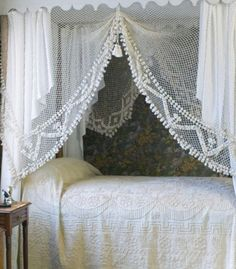 ⌖ Linen & Lace Luxuries ⌖  lace canopy