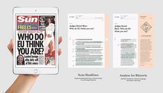 Review - News analysis app on Behance