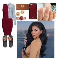 """""""Untitled #500"""" by queen-ayanna on Polyvore featuring NLY Trend, J Brand, Gucci, Michael Kors, Saks Fifth Avenue and Vianel"""