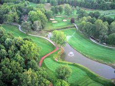 Aerial view of Hawthorne Valley Country Club