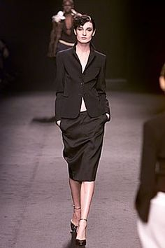 Alessandro Dell'Acqua Fall 2000 Ready-to-Wear Fashion Show - Erin O'Connor, Alessandro Dell'Acqua