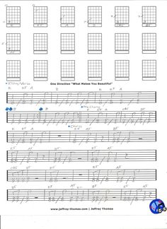 """That's What Makes You Beautiful"" by One Direction. Another addition to my ultimate guitar tabs archive. This is a ""Teen Power Puff"" jam with nice guitar licks. Over 5 million copies sold as of Jan. 2013....Bling. Free Skype Review Available:  www.jeffrey-thomas.com"