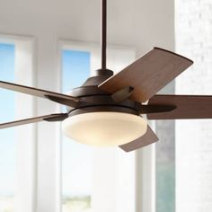 "dimmable 52"" Casa Endeavor Oil Rubbed Bronze Ceiling Fan - #14950 