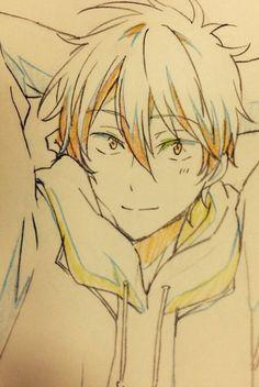Guy Drawing, Manga Drawing, Drawing Reference, Drawing Sketches, Drawings, Momotarou Mikoshiba, Free Eternal Summer, Kyoto Animation, Swim Club