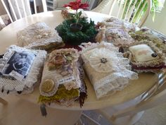 fabric books. This lady does beautiful work. Check out her etsy shop!!