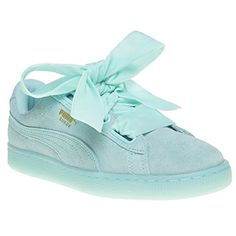 Puma Suede Heart Reset Trainers Blue 5 UK
