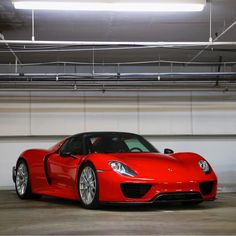 Porsche 918 Spider painted in Guards Red w/ Weissach Package  Photo taken by: @nyexoticcars on Instagram