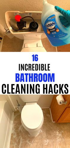 Household Cleaning Tips, Cleaning Recipes, House Cleaning Tips, Diy Cleaning Products, Cleaning Solutions, Spring Cleaning, Cleaning Schedules, Bathroom Cleaning Hacks, Bathroom Organization