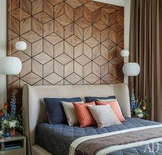 ideas wall paneling ideas bedroom diy wood for 2019 New Bedroom Design, Diy Bedroom Decor, Modern Bedroom, Interior Design, Home Decor, Funky Bedroom, Diy Interior, Wall Panel Design, Wooden Wall Design