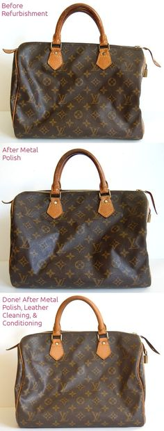 how to lighten louis vuitton leather make metal shiny clean refurbish to  newer look Lv Handbags 6f86f11fd3768