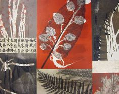 botanical monotype collage