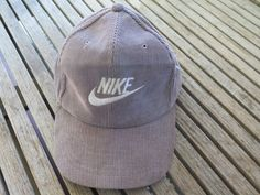 factory price b9e7e e4a09 VTG NIKE CORDUROY CAP HAT IN GRAY ONE SIZE  fashion  clothing  shoes