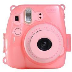 Colorful Plastic Protect Case for Fujifilm Instax Mini 8 Polaroid Camera Pink Polaroid Mini 8, Pink Polaroid Camera, Poloroid Camera, Instax Mini 8 Camera, Fujifilm Instax Mini 8, Digital Camera, Cell Phone Accessories, Jelly, Shoulder Strap