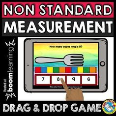 Nov 22, 2018 - NON STANDARD MEASUREMENT (HOW MANY CUBES LONG?) MEASURING LENGTH OF OBJECTS USING CUBES Kids use cubes visuals to measure the length of each object and click the button with the corresponding answer from a selection of 4. This game can be played on interactive whiteboards, computers and tablets. Measurement Kindergarten, Measurement Activities, Kindergarten Math Activities, Interactive Activities, Kindergarten Classroom, Kids Learning Computer, Computer Games For Kids, Learning Sites, Learning Activities