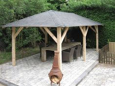 It is presented in a contemporary style with a natural wooden frame and a beautiful felt tiled roof, available in three colour options of red, green or black. Description from taylorsgardenbuildings.co.uk. I searched for this on bing.com/images