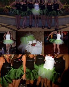My maid of honor had tutu's made for me and all the maids.  So cute and wild, it was the perfect outfit to wear to the Thunder Down Under show in Vegas!