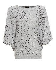 Grey (Grey) Grey Swallow Print Jumper | 258114204 | New Look. Super soft handle and great swallow bird print sweater.