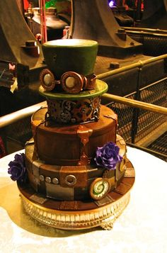 Steam Punk Wedding cake, gothic wedding cake, Victorian theme wedding