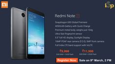 Xiaomi Redmi Note3 Launched with Snapdragon650, Fingerprint Sensor, 4050mAh Battery @ http://www.ispyprice.com/mobiles/xiaomi-redmi-note-3-series-phones-price-list-india/