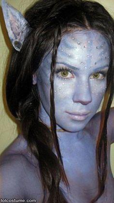 Avatar face paint use with Avatar Lenses. www.foureyez.com/edit-movie-contact-lenses/avatar-contact-lenses-pair.html